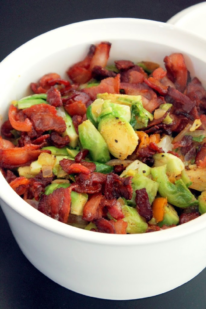 Creole Brussels Sprouts with Bacon-Creole Contessa