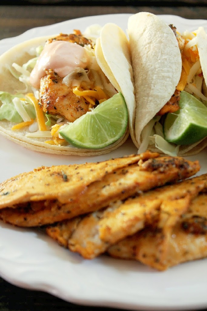 Grilled Fish Tacos with Sriracha Sour Cream-Creole Contessa