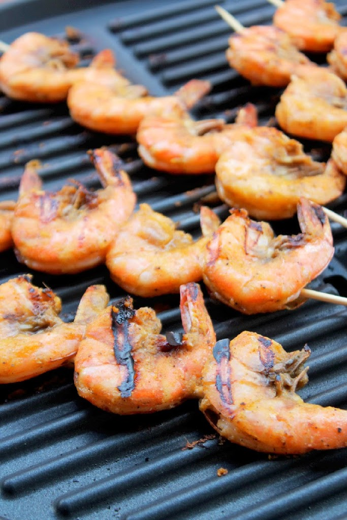Grilled Jamaican Jerk Shrimp with Mango Chutney-Creole Contessa