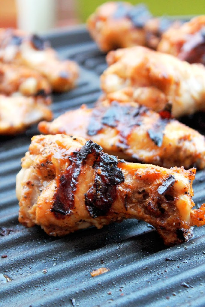 Grilled Sriracha Chicken Wings-Creole Contessa