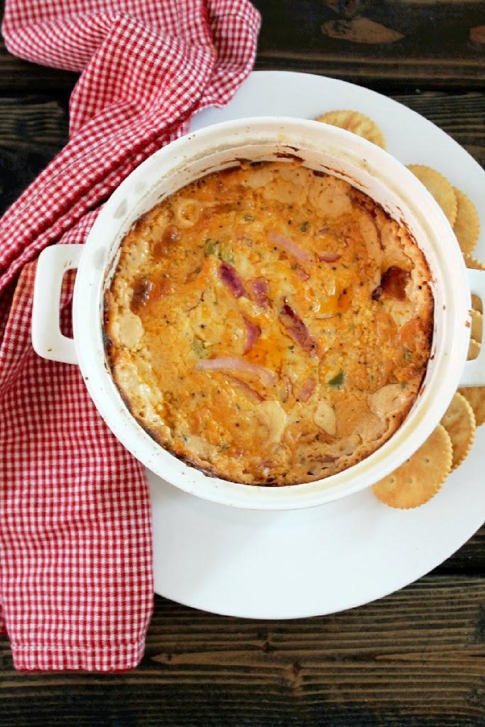 Hot Jalapeno Onion Cheese Dip-Creole Contessa