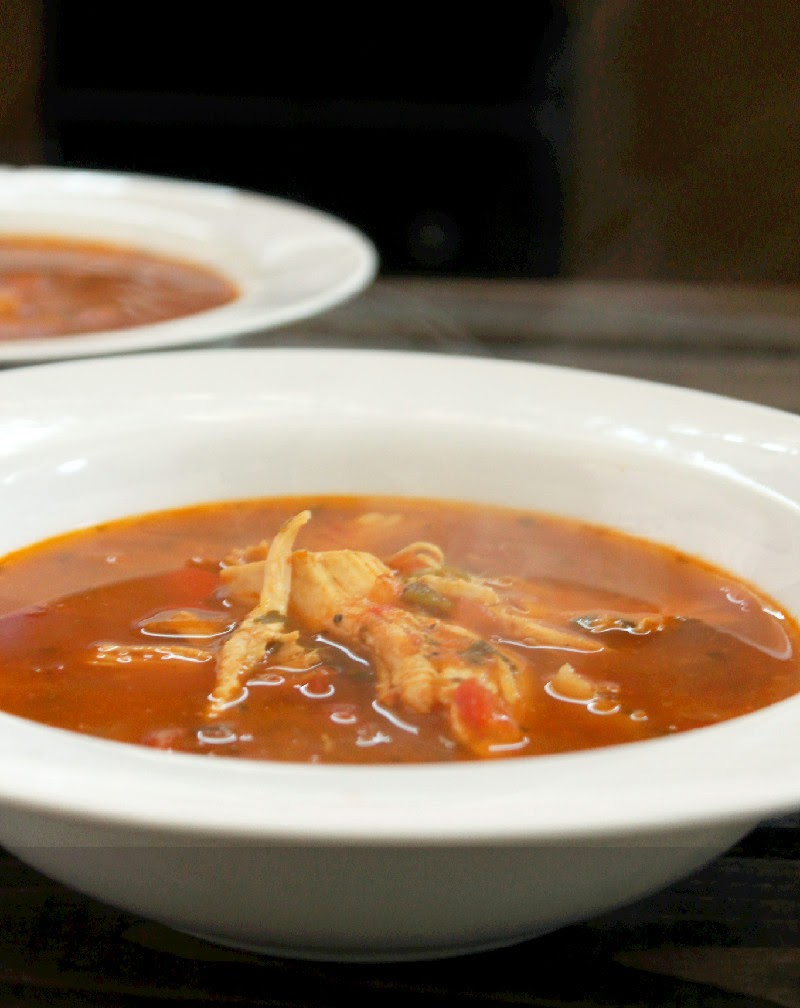 Quick and Easy Roasted Chicken Tortilla Soup-Creole Contessa
