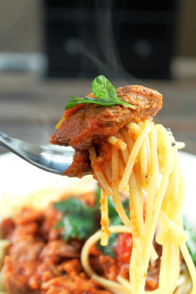 Meaty Slow Cooker Sunday Ragu with Roast-Creole Contessa