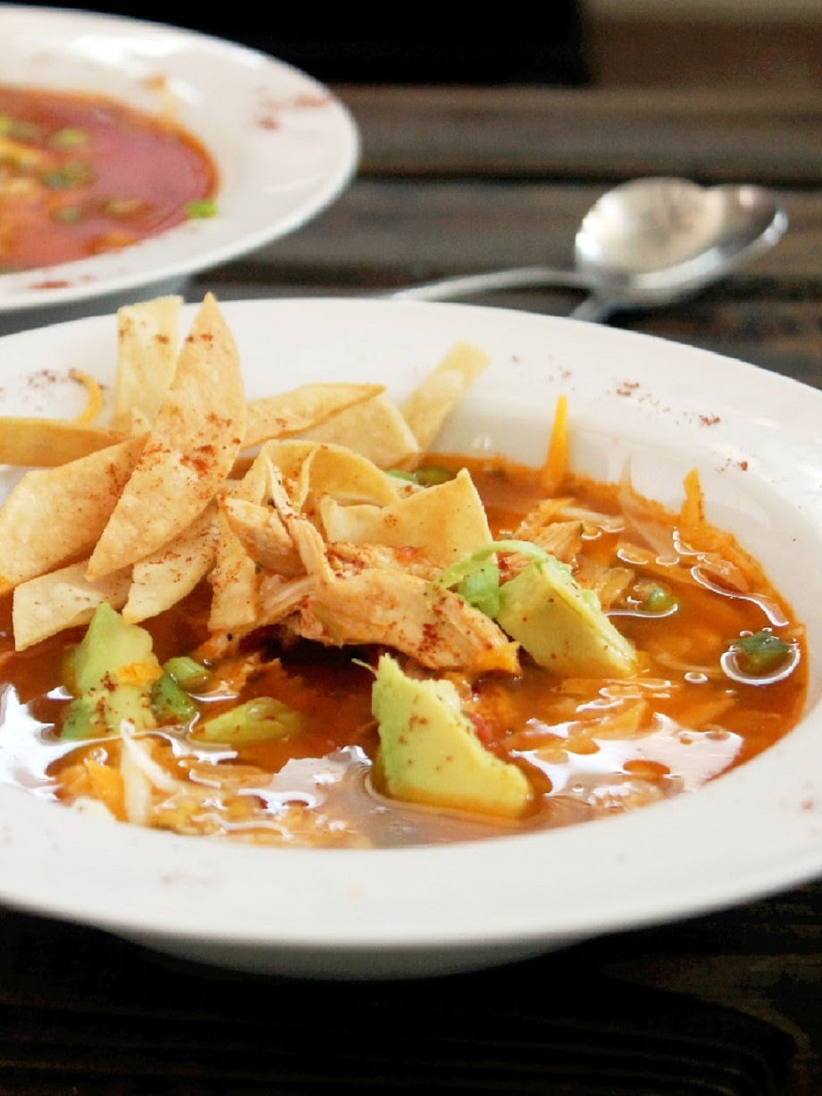 Quick and Easy Roasted Chicken Tortilla Soup