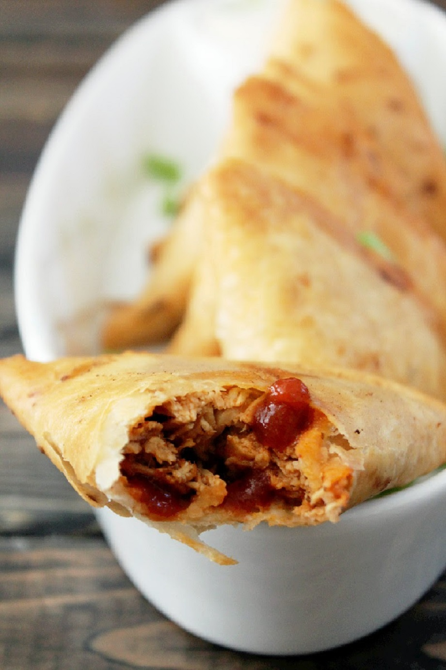 Slow Cooker Buffalo Chicken Samosas-Creole Contessa