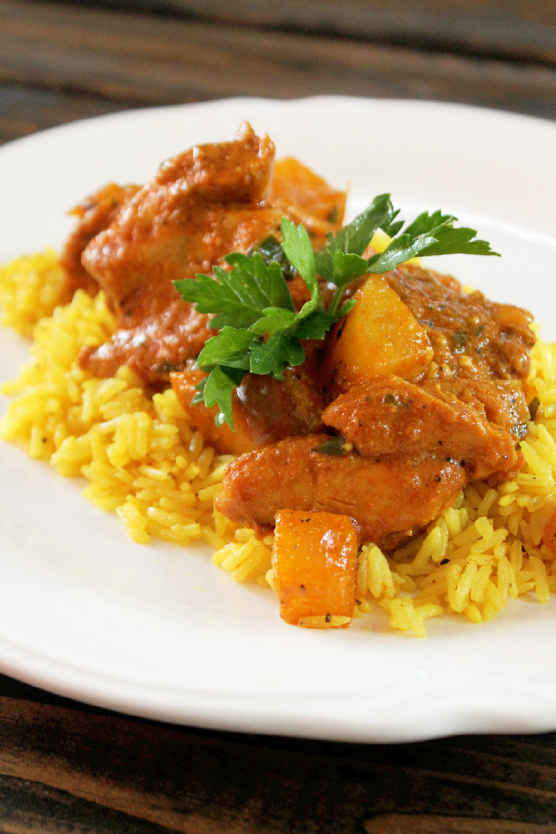 Indian Butter Chicken  with Yellow Rice-Creole Contessa