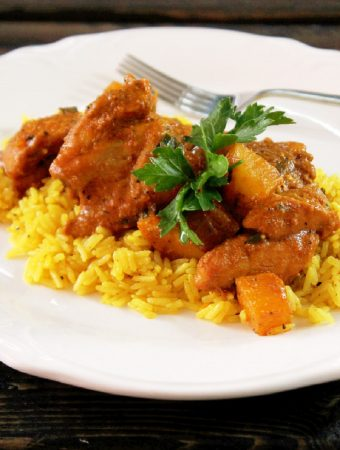 Indian Butter Chicken with Yellow Rice