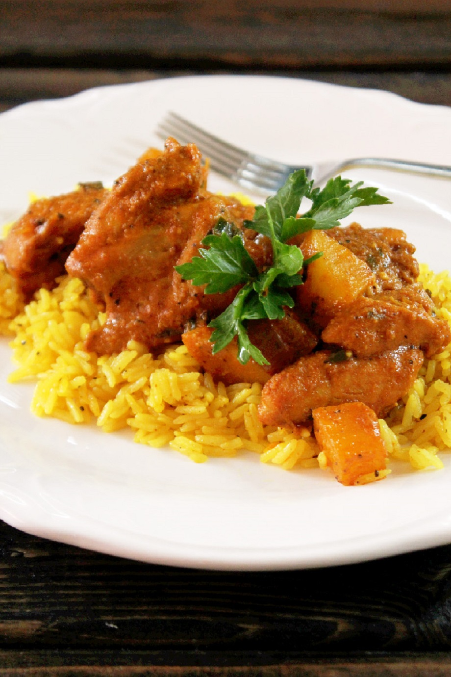Indian Butter Chicken with Yellow Rice - Creole Contessa