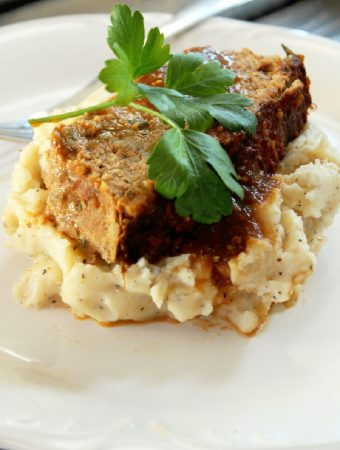Mexican Meatloaf with Garlic Mashed Potatoes