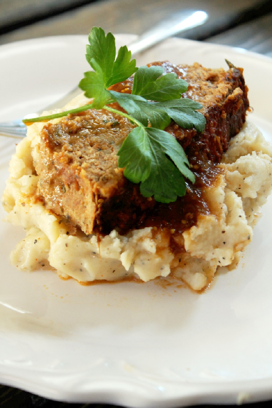 Meatloaf With Roasted Garlic Mashed Potatoes - From My ...