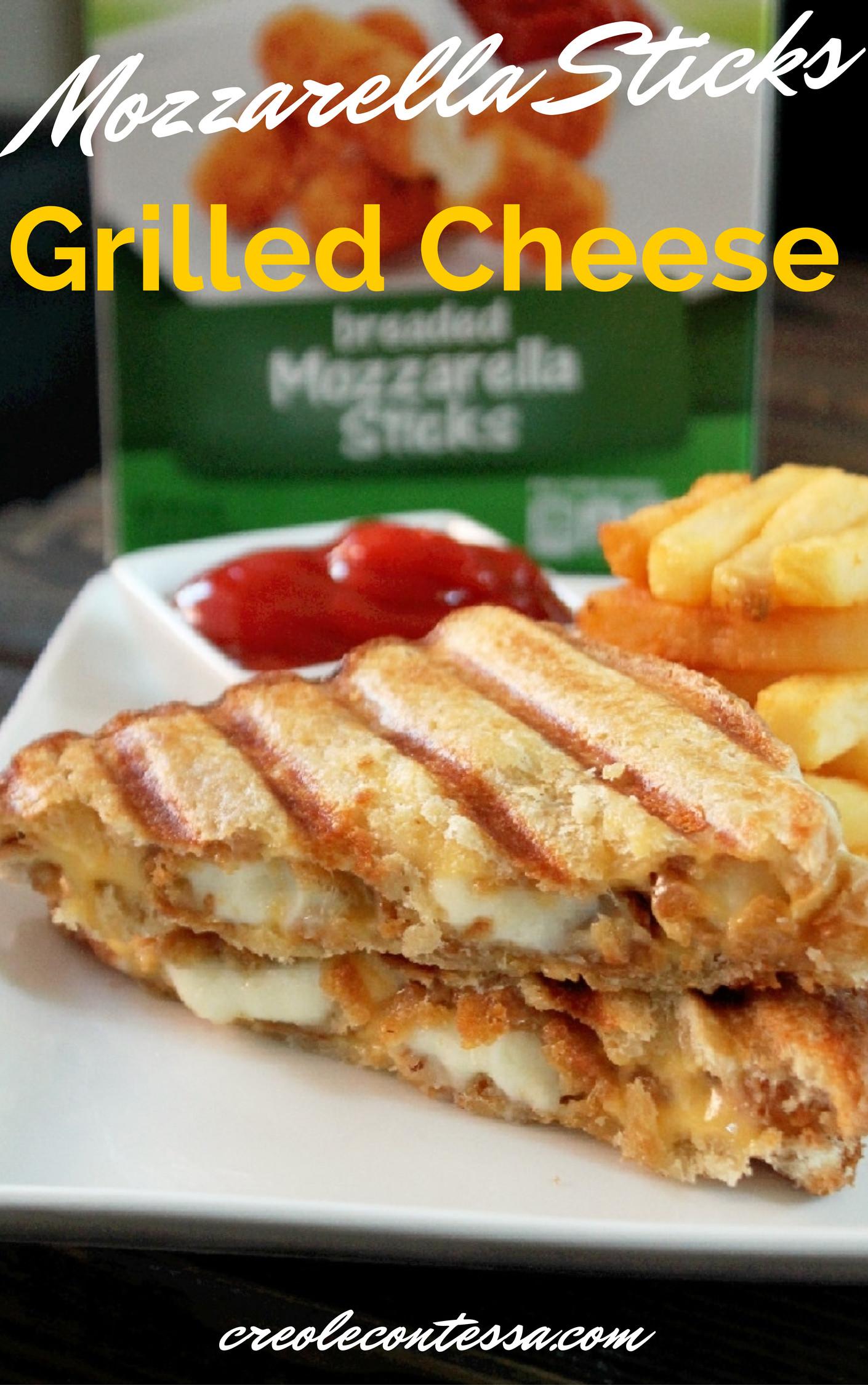Mozzarella Sticks Grilled Cheese Sandwich-Creole Contessa