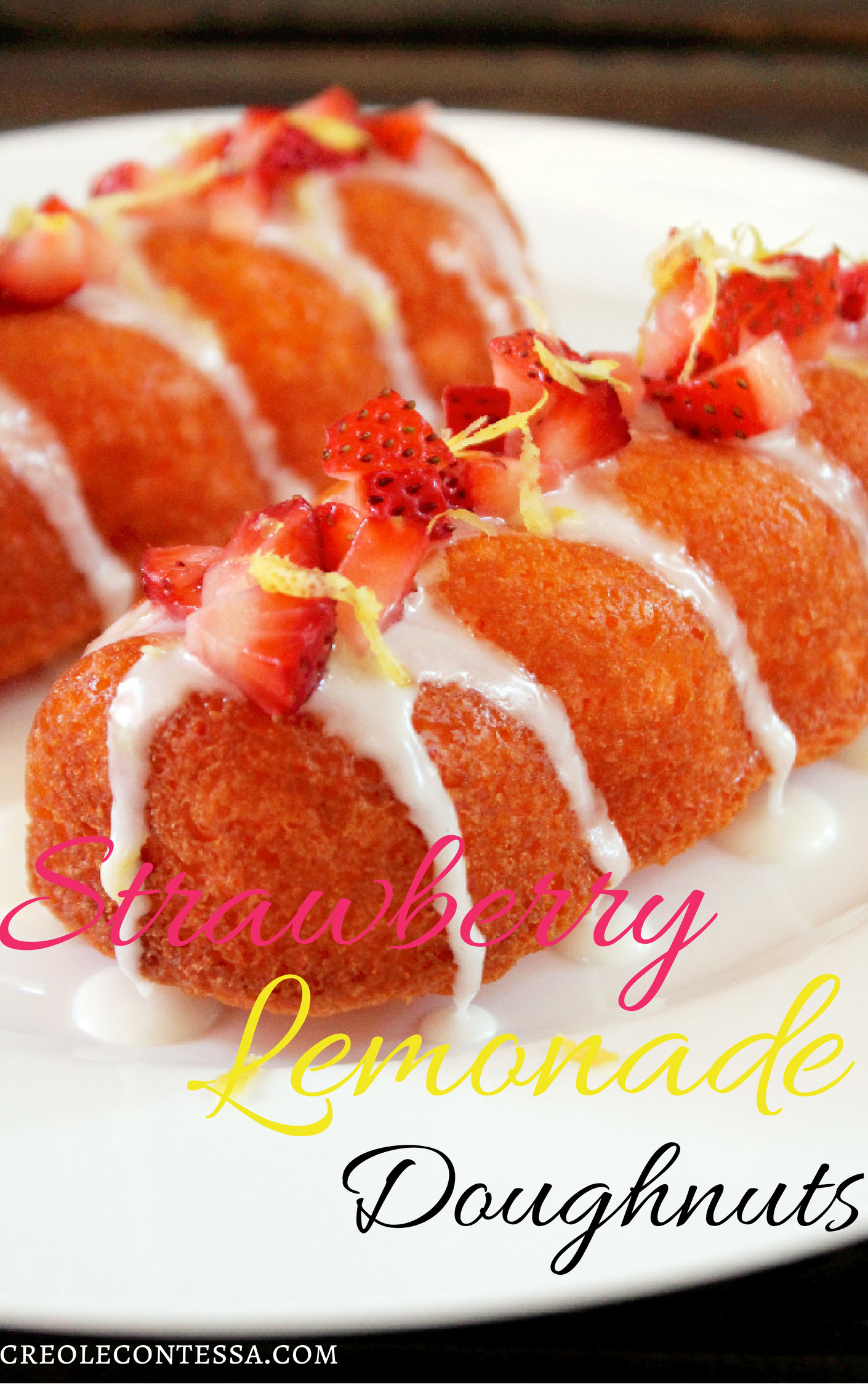 Strawberry Lemonade Doughnuts-Creole Contessa
