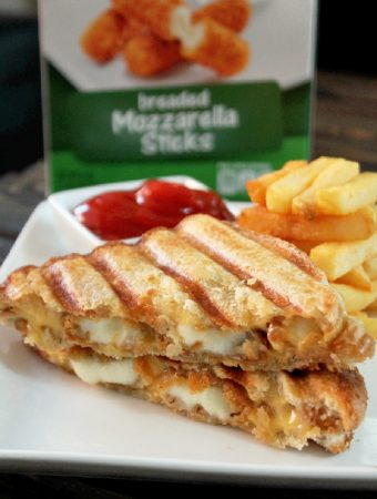 Mozzarella Sticks Grilled Cheese Sandwich