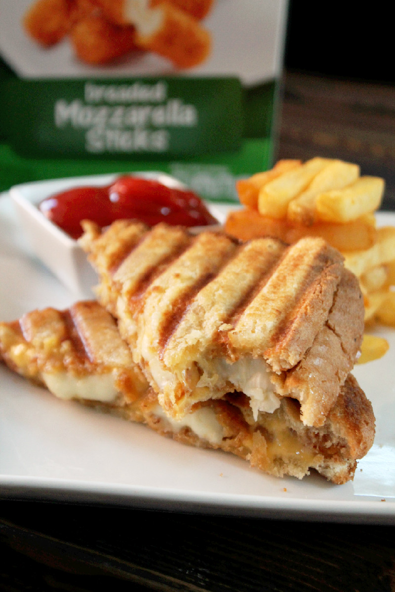 Mozzarella Stick Grilled Cheese Sandwich - XO&So |Grilled Cheese With Mozzarella Sticks