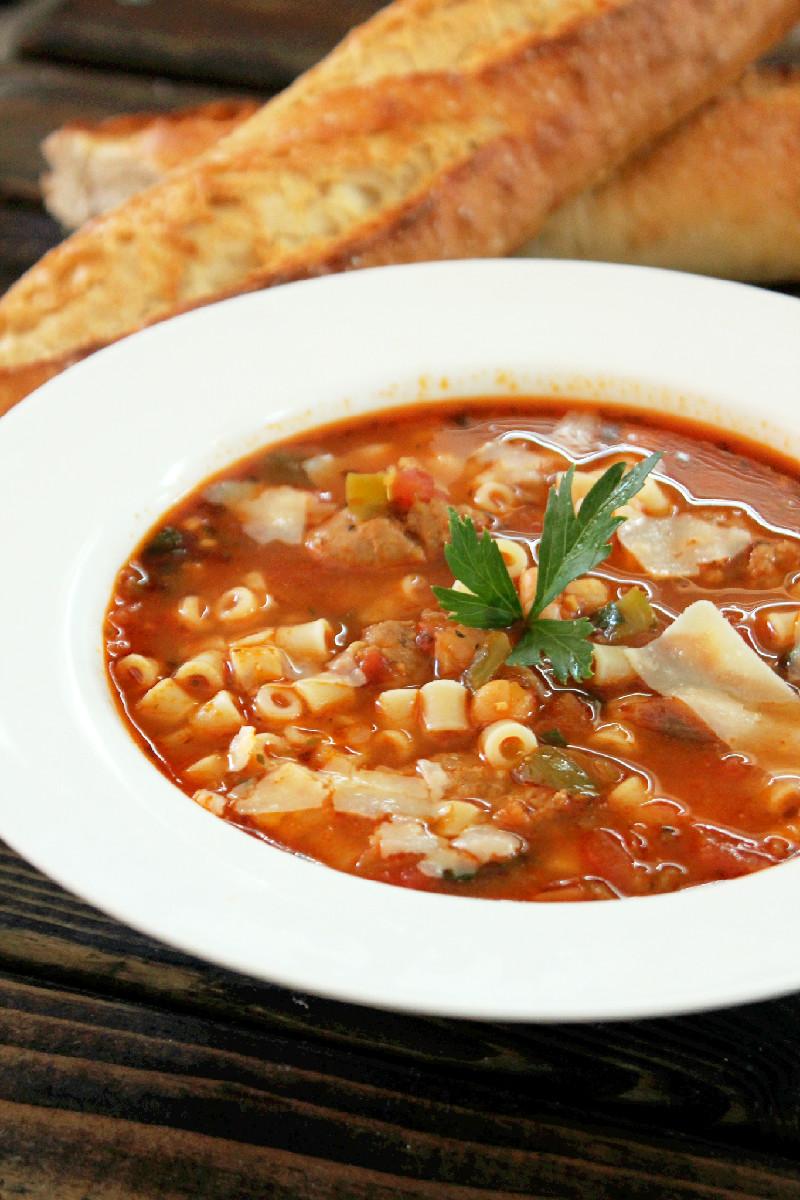 Pasta E Fagioli with Italian Sausage-Creole Contessa