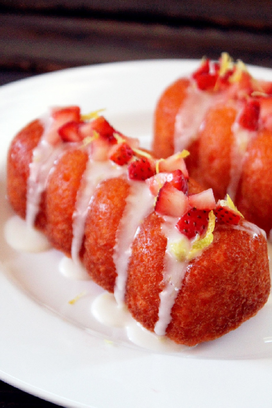 Strawberry Lemonade Doughnuts