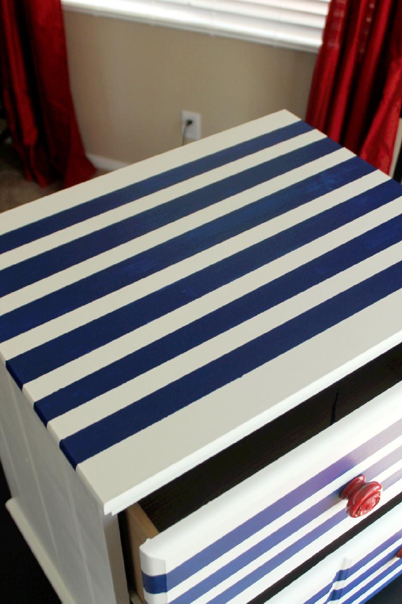 DIY Striped Dresser-Creole Contessa