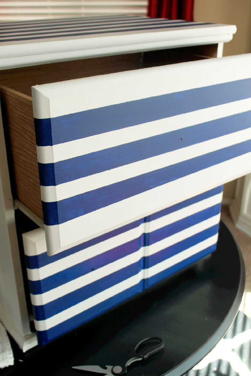 DIY Striped Dresser-Creole Contessa