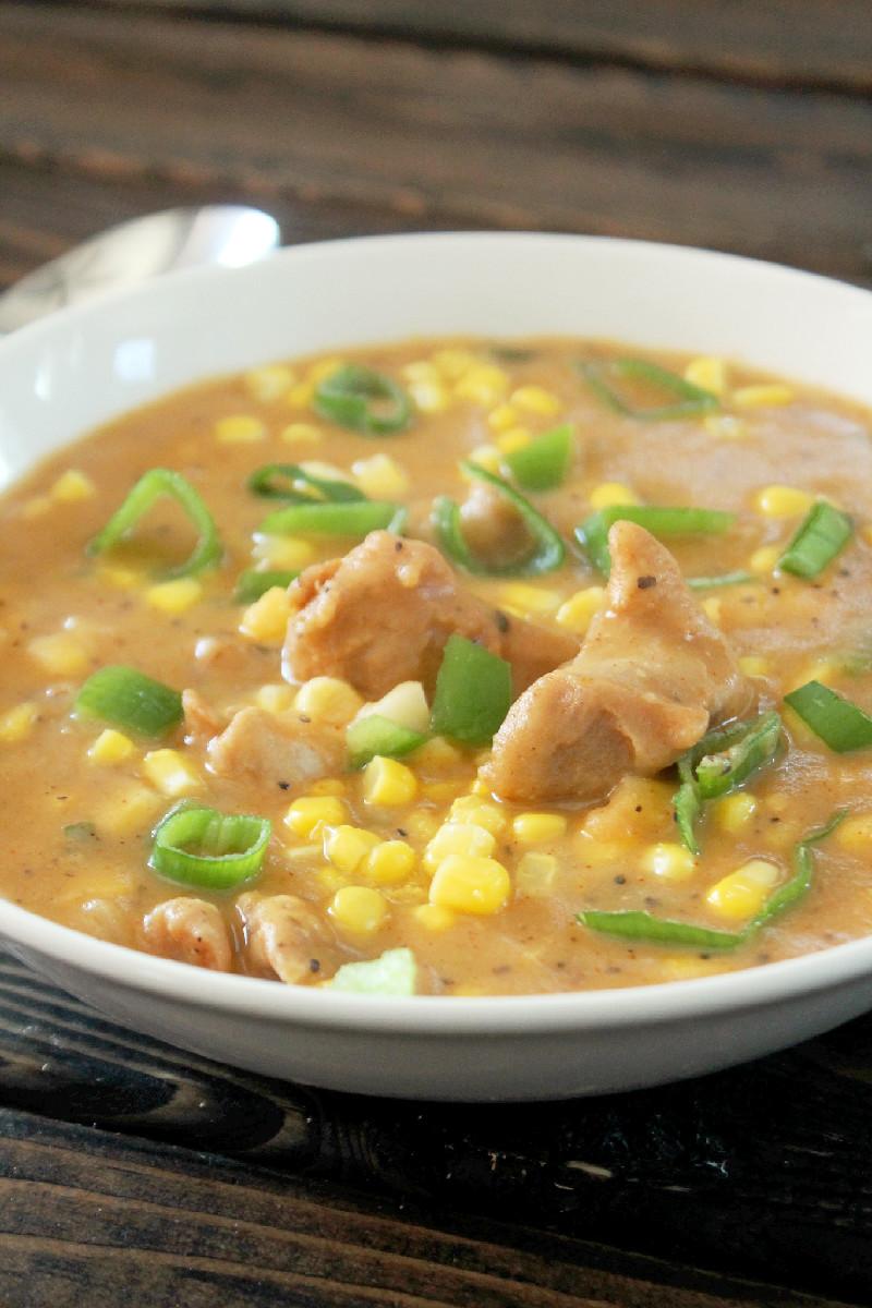 Chicken and Corn Chowder-Creole Contessa