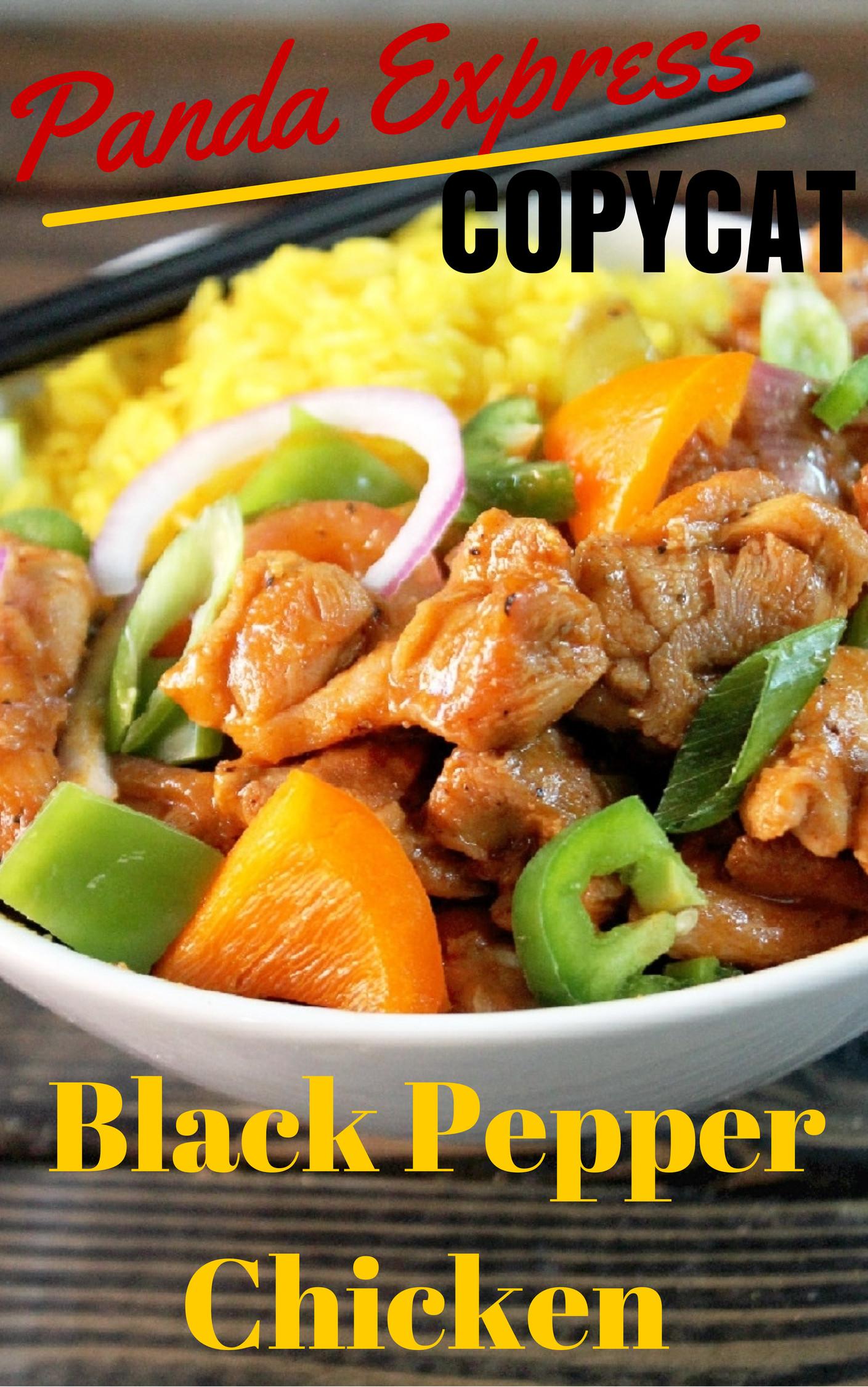 Panda Express Black Pepper Chicken (Copycat) - Dinner ...  |Panda Express Black Pepper Chicken