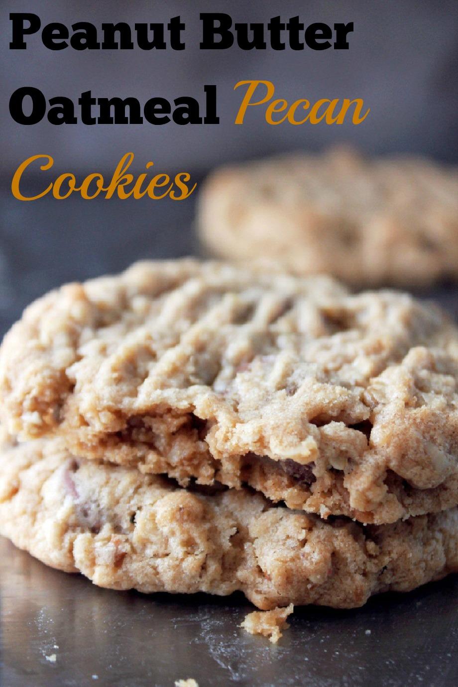 Peanut Butter Oatmeal Pecan Cookies - Creole Contessa