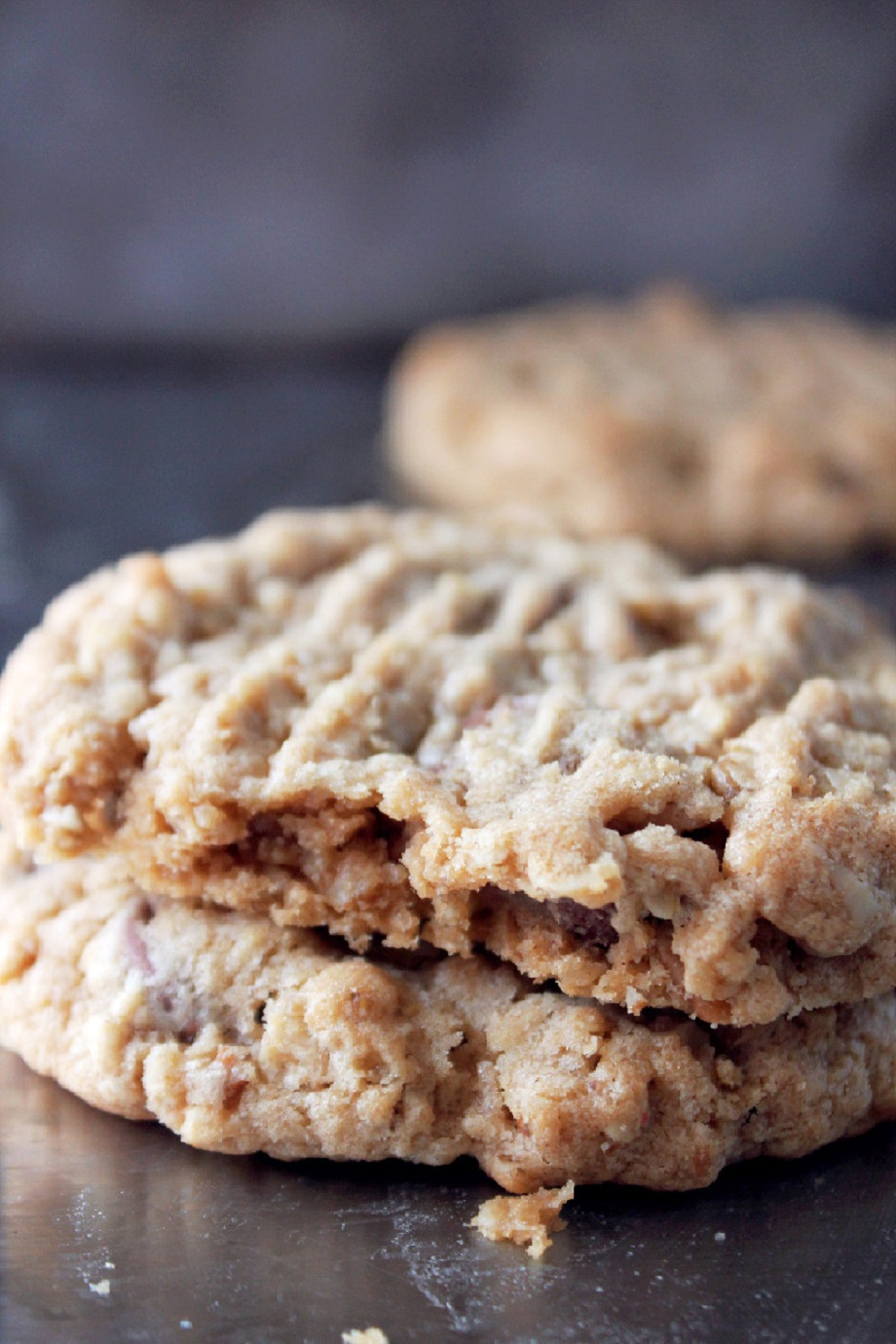 Peanut Butter Oatmeal Pecan Cookies
