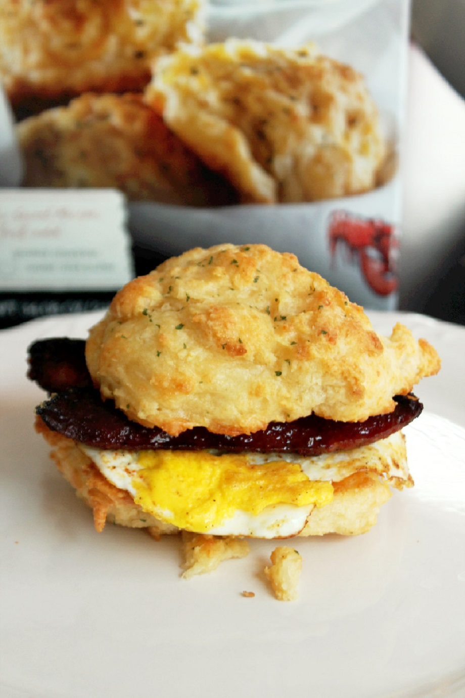 Sausage Egg Cheese Biscuit with Louisiana Smoked Sausage-Creole Contessa