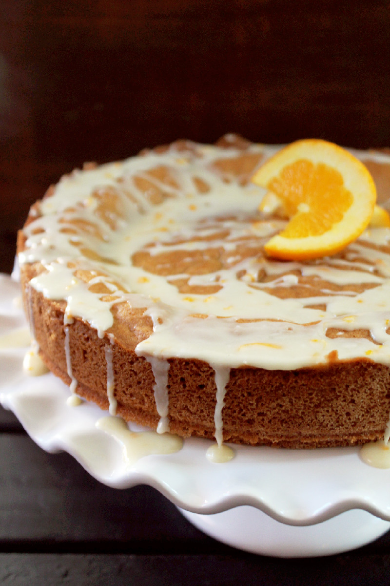 Tea Cake Orange Glazed-Creole Contessa
