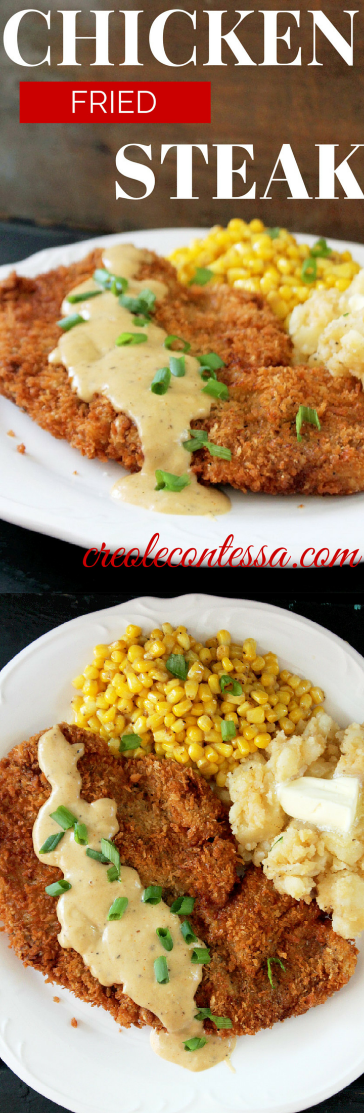 Chicken Fried Steak - Creole Contessa