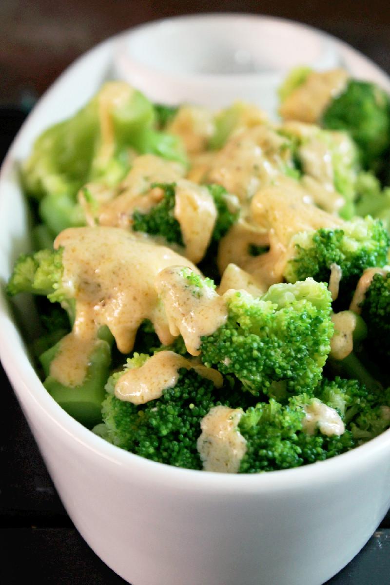 Broccoli with Gorgonzola Cheese Sauce-Creole Contessa