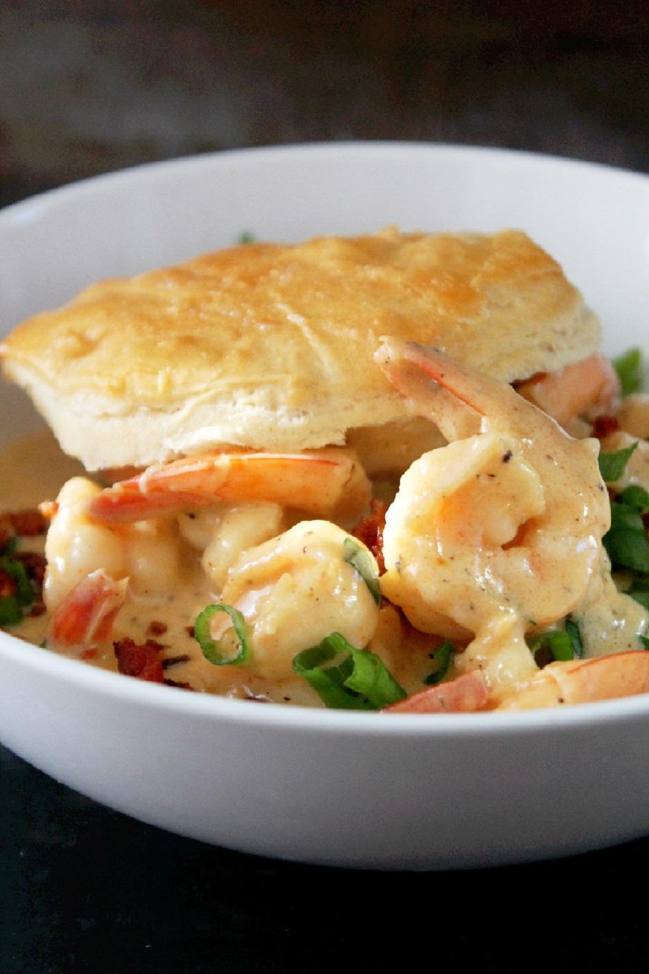 Cajun Shrimp and Biscuits