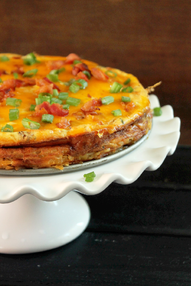 Hash Brown Quiche with Bacon-Creole Contessa