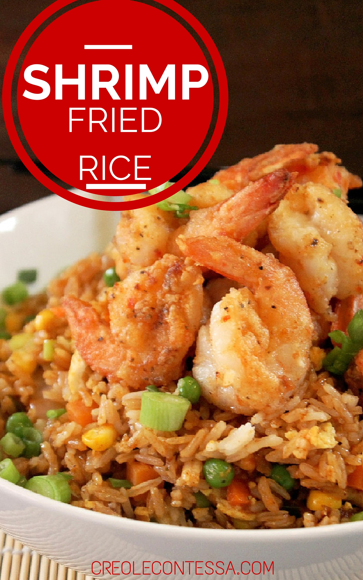 Did I mention my Shrimp Fried Rice actually has FRIED SHRIMP!