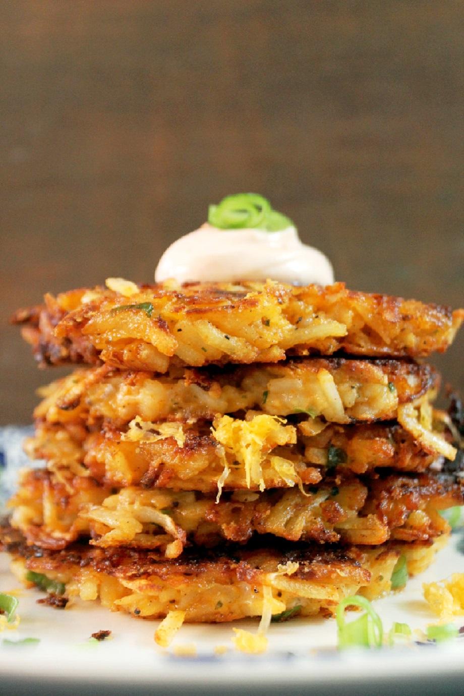 Potato and Cheese Latkes-Creole Contessa