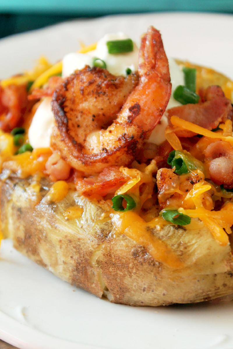 Stuffed Potatoes with Shrimp-Creole Contessa