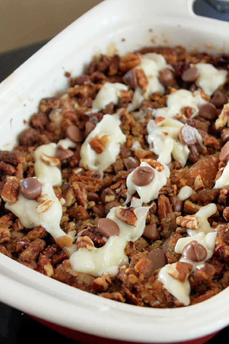 Butter Pecan Bread Pudding with Cream Cheese Glaze-Creole Contessa