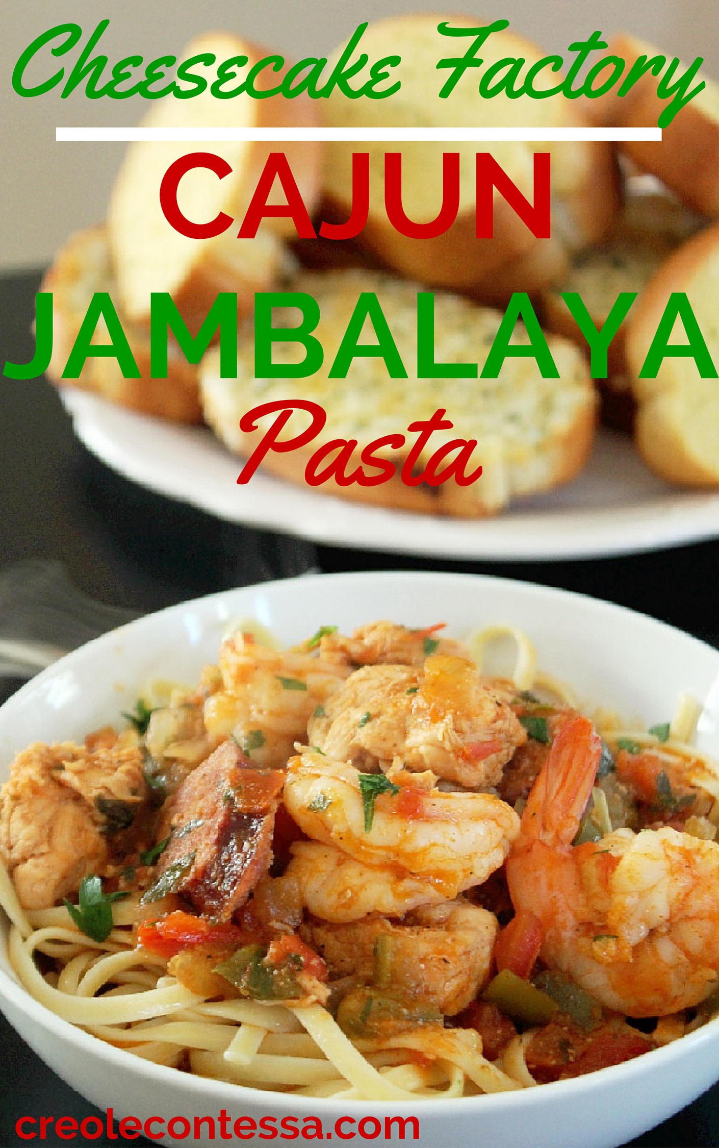 Cajun Jambalaya Pasta Cheesecake Factory Copycat-Creole Contessa