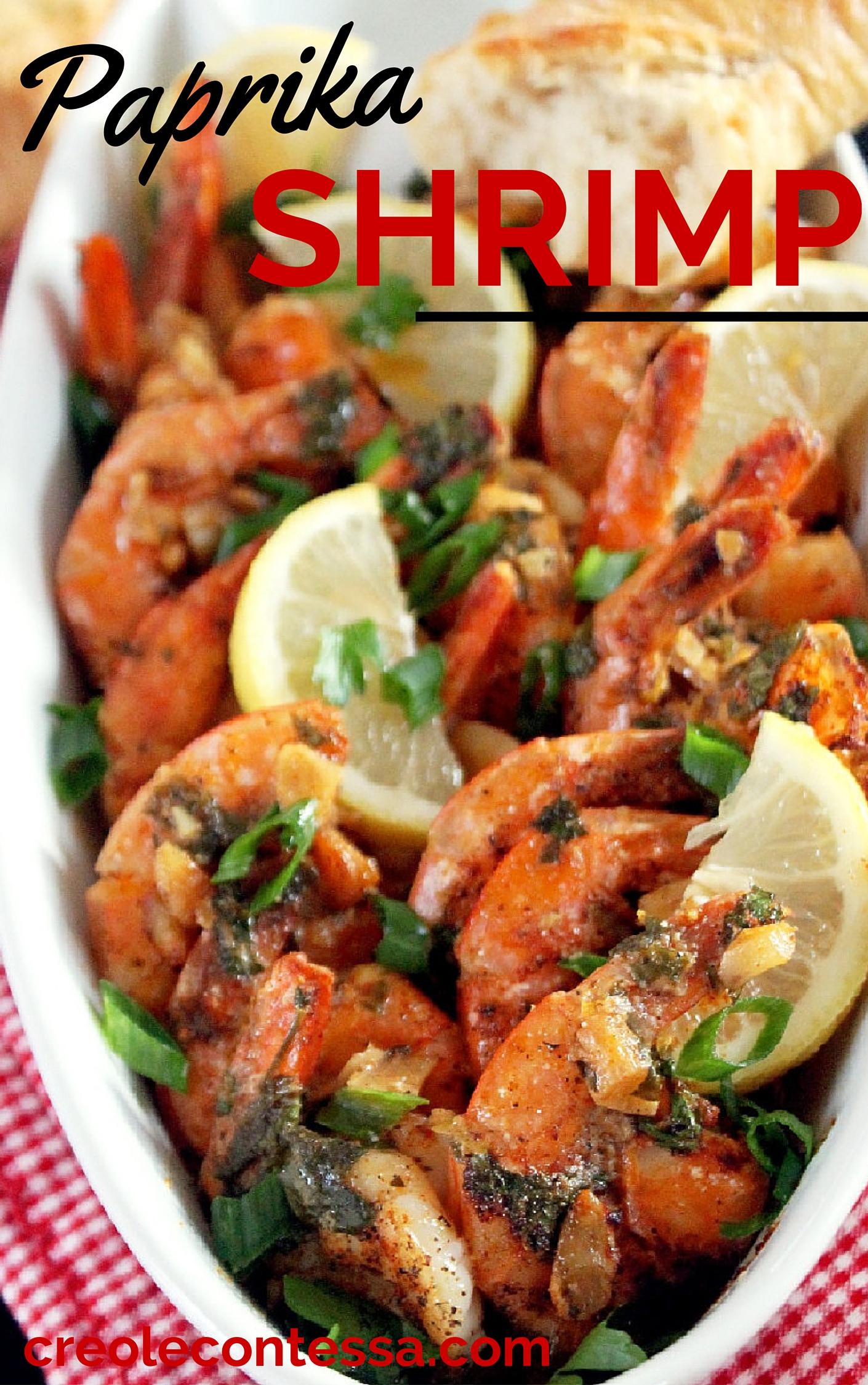 Paprika Shrimp with Roasted Garlic-Creole Contessa