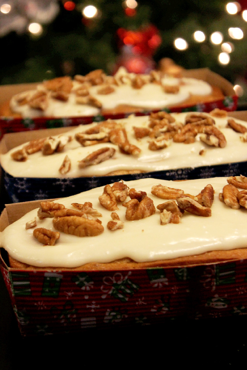 Banana Nut Bread with Cream Cheese  Glaze (3)
