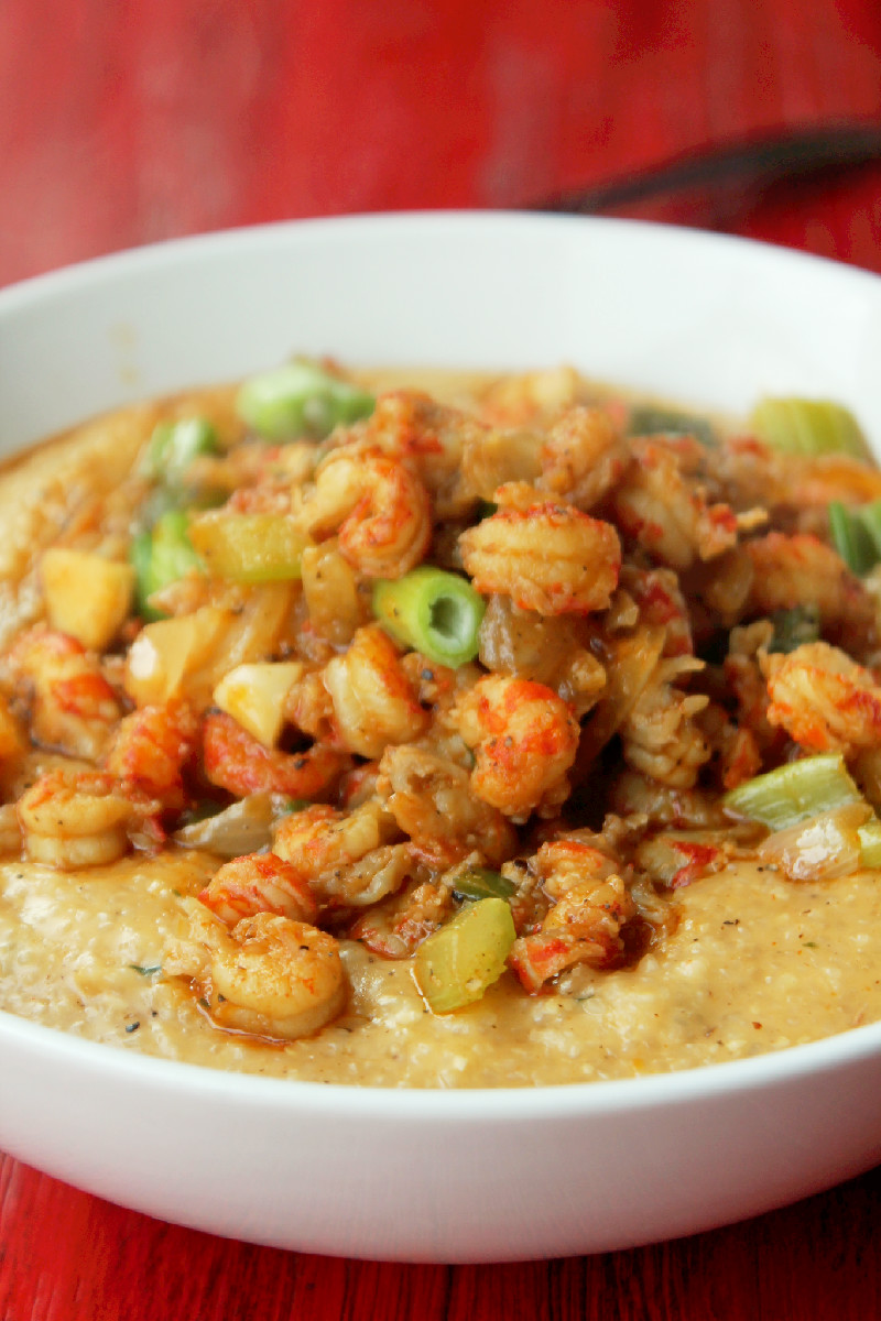 Crawfish and Grits-Creole Contessa