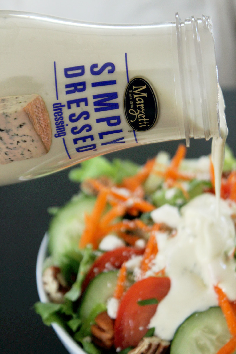 Feta Cheese Salad with Pecans and Marzetti Simply Dressed® -Creole Contessa