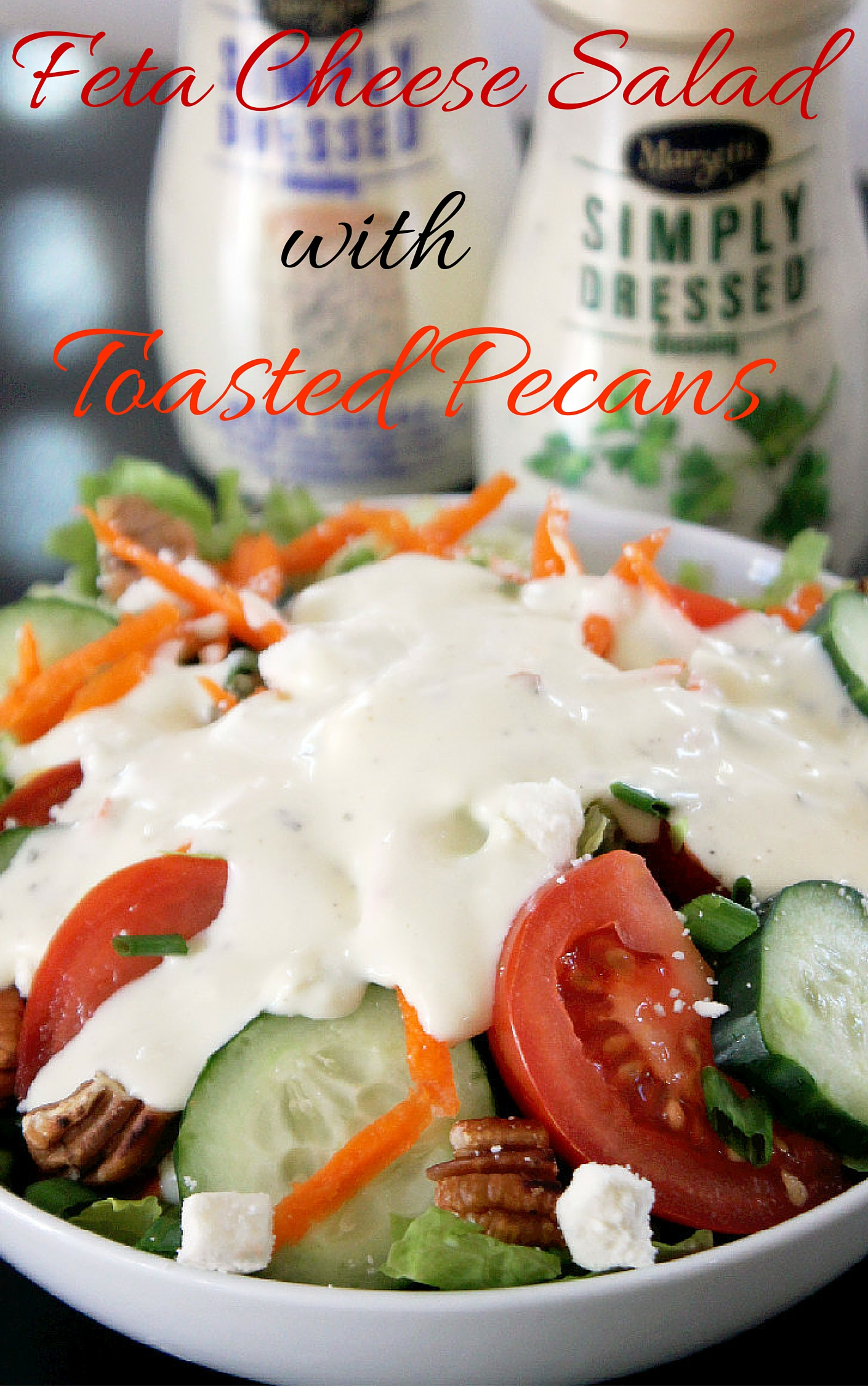 Feta Cheese Salad with Pecans and Marzetti Simply Dressed®-Creole Contessa