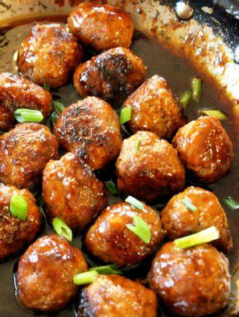 Teriyaki Meatballs-Creole Contessa
