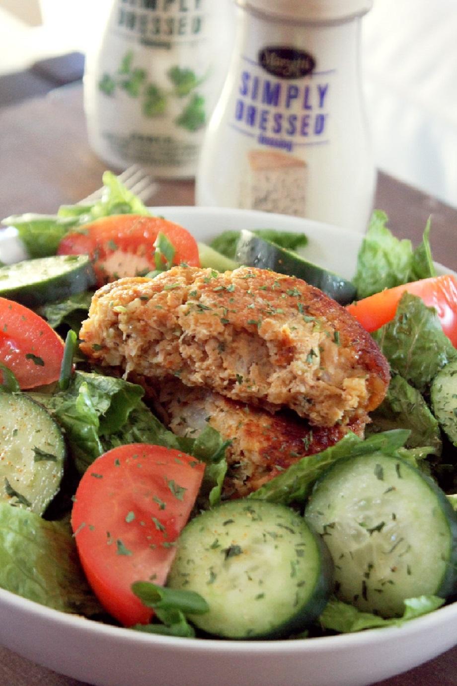 Salmon Cake Salad-Crele Contessa