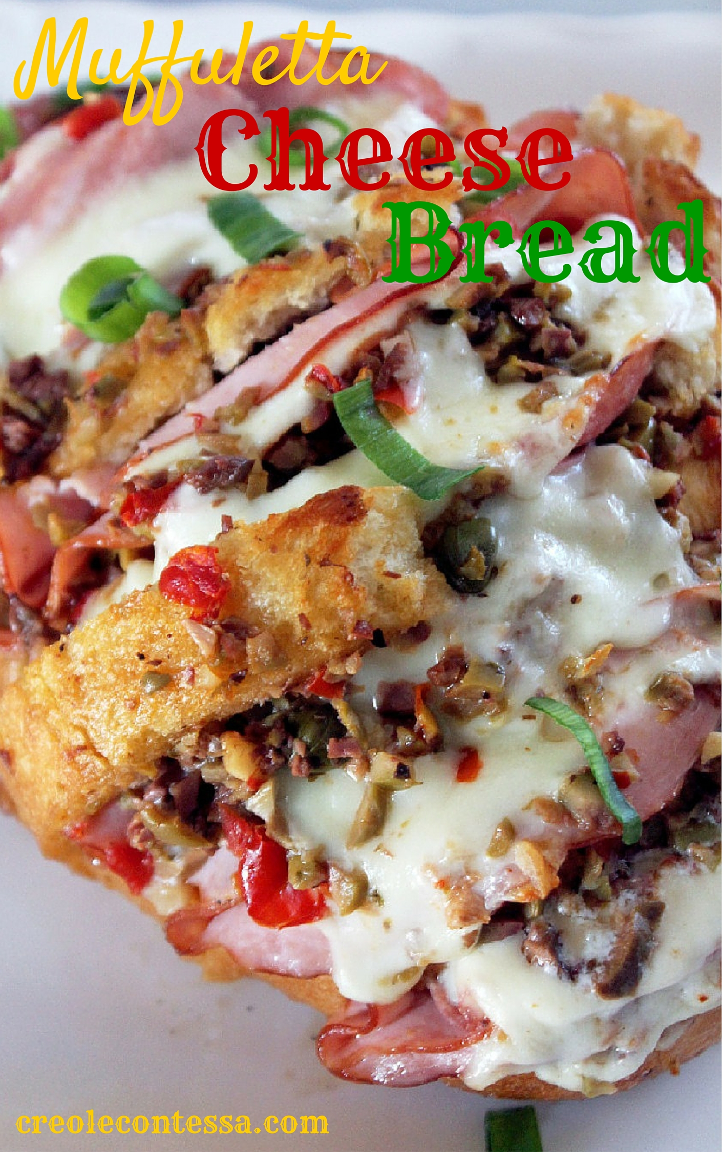 Muffuletta Cheese Bread-Creole Contessa