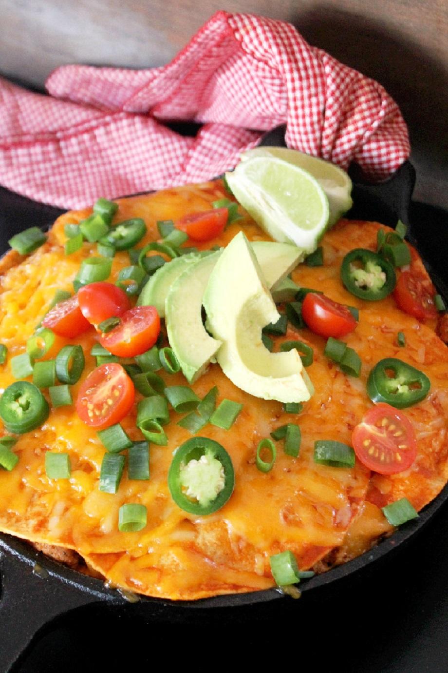 Skillet Enchiladas Casserole