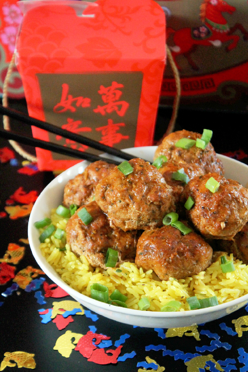Spicy Asian Meatballs-Creole Contessa
