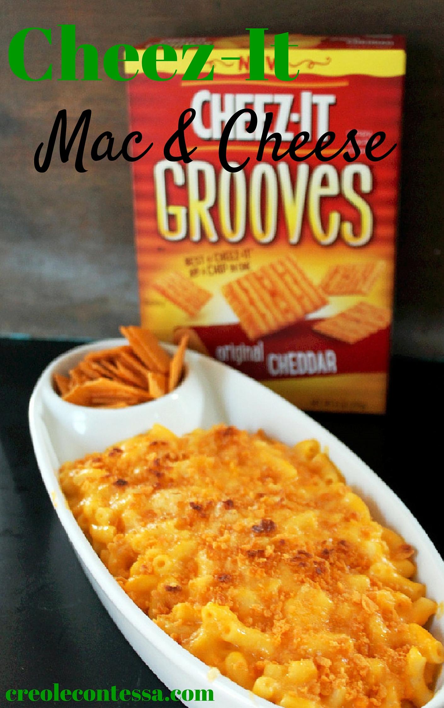 Cheez-It Macaroni and Cheese #BigGameSnacks-Creole Contessa