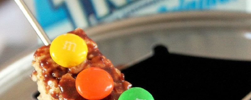 Chocolate Ganache Marshmallow M&M's Fondue-Creole Contessa