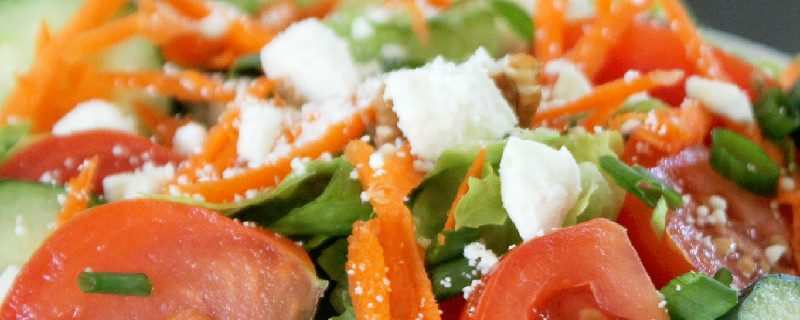Feta Cheese Salad with Pecans and Marzetti Simply Dressed®
